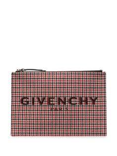 Givenchy клатч в ломаную клетку
