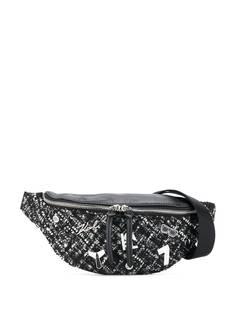 Karl Lagerfeld поясная сумка на молнии с логотипом