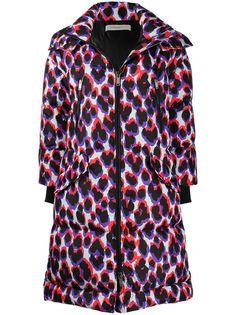 Golden Goose пальто-пуховик с леопардовым принтом