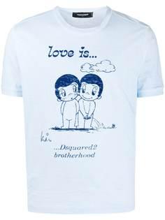Dsquared2 футболка с короткими рукавами и надписью