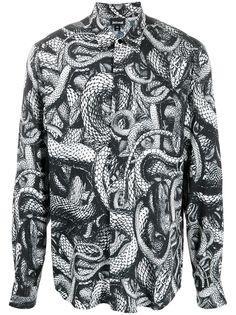 Just Cavalli рубашка с длинными рукавами и змеиным принтом