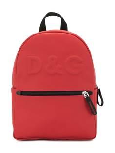 Dolce & Gabbana Kids рюкзак с тисненым логотипом