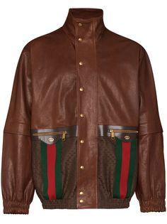 Gucci куртка с отделкой Web