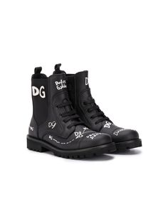 Dolce & Gabbana Kids ботинки с логотипом