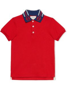 Gucci Kids рубашка поло с логотипом и короткими рукавами