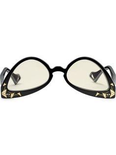 Gucci Eyewear солнцезащитные очки в перевернутой оправе кошачий глаз