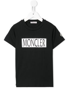 Moncler Kids футболка с логотипом