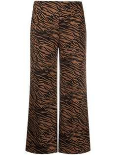 LIU JO укороченные брюки с анималистичным принтом
