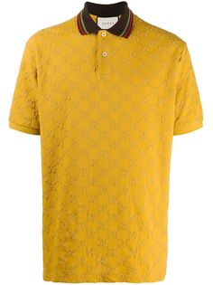 Gucci рубашка поло с вышитым узором GG Supreme