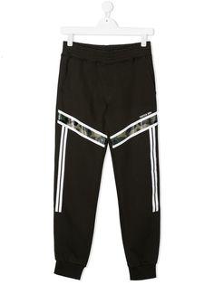 Neil Barrett Kids спортивные брюки с камуфляжным принтом