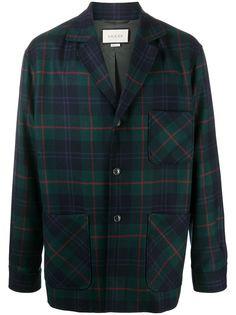 Gucci клетчатая куртка-рубашка