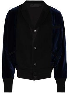 Haider Ackermann бархатная куртка-бомбер
