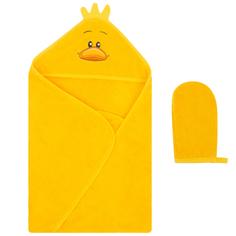 Комплект для купания Leader Kids полотенце/рукавица-мочалка 75 х 100 см