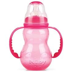 Бутылочка Nuby с силиконовой соской, полипропилен, с 0 мес, 210 мл