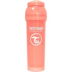 Бутылочка Twistshake Pastel для кормления антиколиковая, пластик, с 4 мес, 330 мл