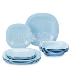 Сервиз столовый из стекла, 18 предметов, Carine Light Blue P7629 Luminarc