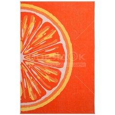 Полотенце пляжное, 100х150 см, Грейпфрут ПЦС-1202-4023 оранжевое Cleanelly