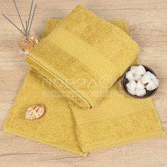 Полотенце банное, 70х140 см, Cleanelly, 460 г/кв.м, светло-горчичное ПТХ-701-03732