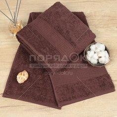 Полотенце банное, 70х140 см, Cleanelly, 460 г/кв.м, коричневое ПТХ-701-03732