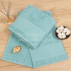 Полотенце банное, 70х140 см, Cleanelly, 420 г/кв.м, бледно-голубое ПТХ-701-03733