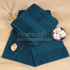 Полотенце банное, 100х150 см, Cleanelly, 460 г/кв.м, синее ПТХ-1201-03732
