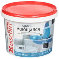 Краска водоэмульсионная Ореол Дисконт интерьерная моющаяся белая матовая, 3 кг