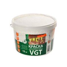 Краска водоэмульсионная VGT Белоснежная интерьерная и фасадная моющаяся белая, 15 кг