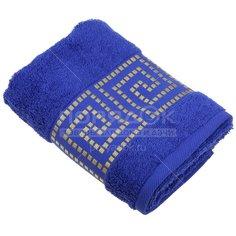 Полотенце банное, 50х90 см, Cleanelly, 460 г/кв.м, синее Мито Греко синий ПЦ-2601-4346
