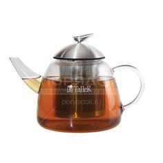 Чайник заварочный стеклянный, 1200 мл, с фильтром TR-1348 TalleR
