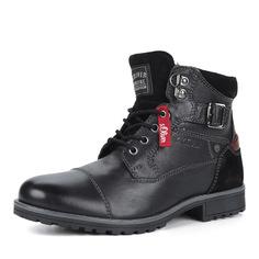Ботинки Черные ботинки из кожи с ремешком S.Oliver