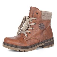Ботинки Коричневые ботинки из экокожи на шнуровке Rieker