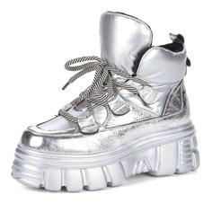 Ботинки Серебряные ботинки в спортивном стиле из комбинированных материалов Respect