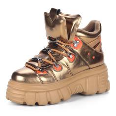 Ботинки Золотые ботинки в спортивном стиле из комбинированных материалов Respect