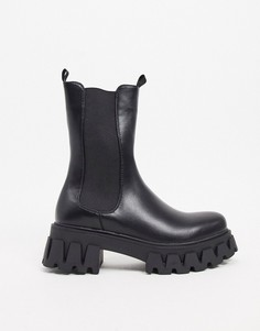 Черные ботинки на массивной подошве Koi Footwear-Черный
