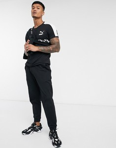 Черная футболка с логотипомPuma-Черный