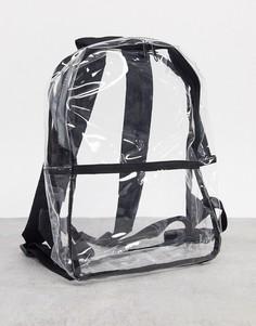 Прозрачный мини-рюкзак из пластика ASOS DESIGN-Очистить