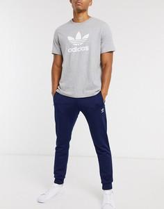 Темно-синие джоггеры скинни adidas Originals-Темно-синий