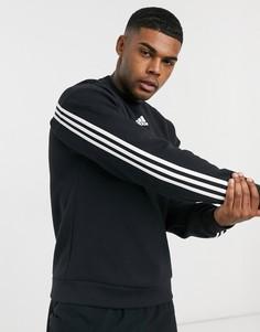 Черный свитшот с логотипом adidas Training