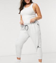 Серые джоггеры adidas Training plus-Серый