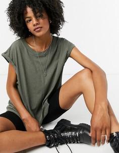 Зеленая oversized-футболка AllSaints-Зеленый