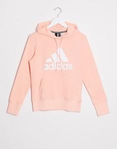 Худи розового цвета с логотипом adidas Training-Розовый