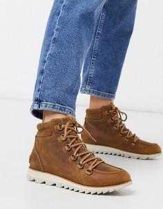 Светло-коричневые водонепроницаемые ботинки со шнуровкой Sorel-Коричневый