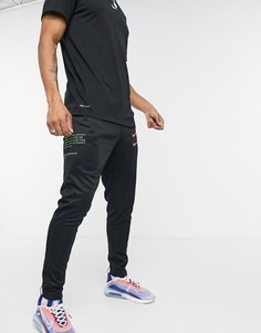 Черные джоггеры с логотипом-галочкой Nike-Черный