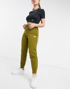 Зеленые узкие джоггеры Nike-Зеленый