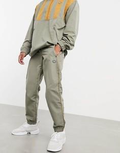 Зеленые джоггеры с манжетами adidas Originals premium Samstag-Зеленый