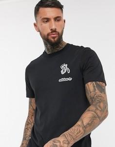 Черная футболка adidas Originals-Черный