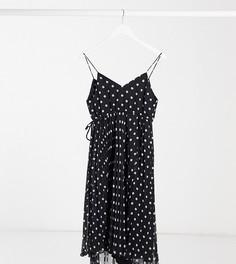 Плиссированное платье миди в горошекASOS DESIGN Maternity-Мульти