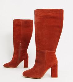Замшевые ботинки рыжего цвета для широкой стопы ASOS DESIGN-Оранжевый