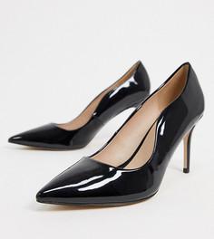 Черные туфли-лодочкина каблуке для широкой стопыMiss KG-Черный