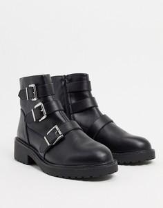 Черные ботинки с пряжками London Rebel-Черный